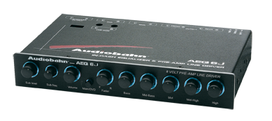 Audiobahn AEQ6Q In Dash Equalizer and Pre-Amp