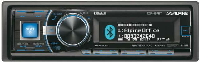 Alpine CDA-137BTi CD/MP3/USB Receiver with Bluetooth