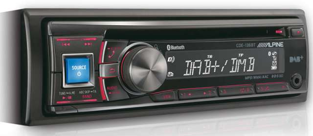 Alpine CDE-136BT CD/MP3/USB/iPod/Bluetooth & DAB Ready Tuner