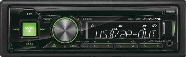 Alpine CDE-170R CD/MP3 Receiver with USB Input
