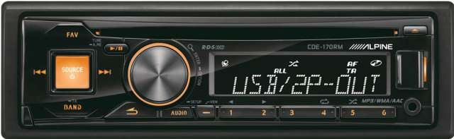 Alpine CDE-170RM CD/MP3 Receiver with USB Input
