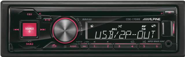 Alpine CDE-170RR CD/MP3 Receiver with USB Input
