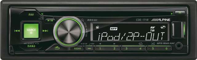 Alpine CDE-171R CD/MP3 Receiver with USB Input & iPod Control