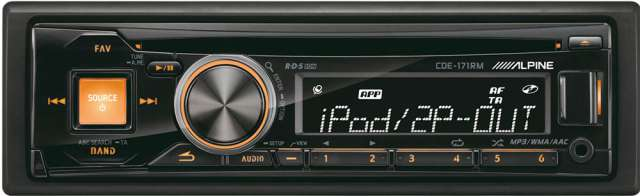 Alpine CDE-171RM CD/MP3 Receiver with USB Input & iPod Control
