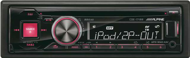 Alpine CDE-171RR CD/MP3 Receiver with USB Input & iPod Control