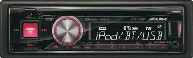 Alpine CDE-173BT CD/MP3/USB/iPod Reveiver With Bluetooth