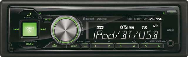Alpine CDE-174BT CD/MP3/USB/iPod Reveiver With Bluetooth