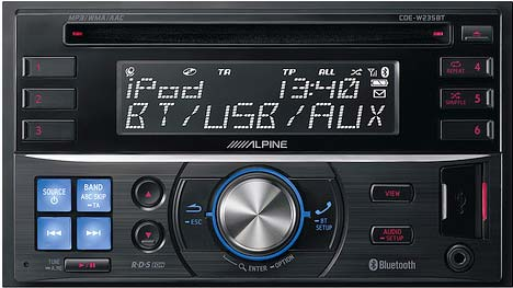 Alpine CDE-W235BT CD/MP3/USB Receiver with iPod & Bluetooth