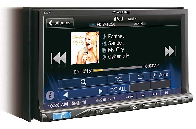 ALpine ICS-X8 Applink CD/DVD Multimedia Station Wtih Bluetooth