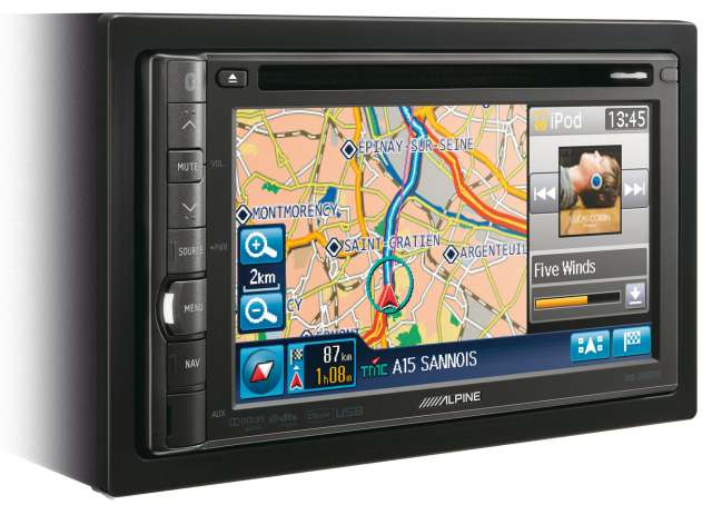 Alpine INE-S900R Double Din DVD/CD/MP3 Navigation Unit [Alpine INE-S900R]