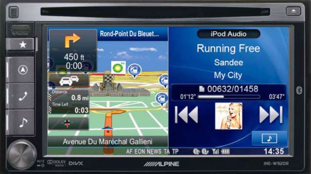Alpine INE-W920R Double Din DVD/USB/iPod Receiver With Bluetooth