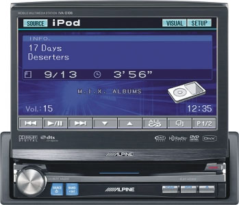 "Alpine IVA-D106 7"" Touch Screen Monitor With DVD Playback"