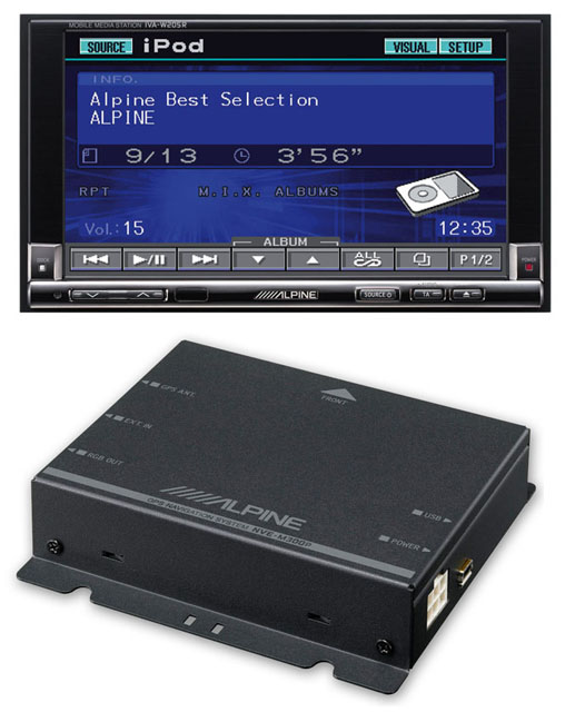 Alpine IVA-W205R & NVE-M300P Navigation Package