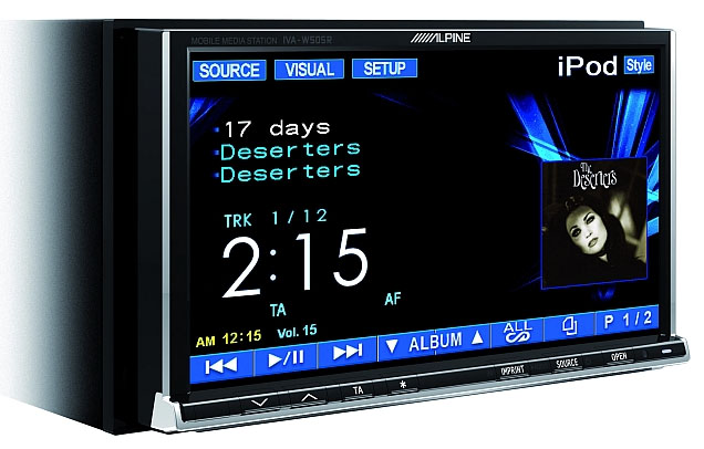 Alpine IVA-W502R Double Din DVD/CD/MP3 Tuner