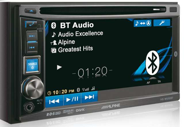 "Alpine IVA-W530BT 6.1"" DVD/iPod Monitor With Bluetooth"