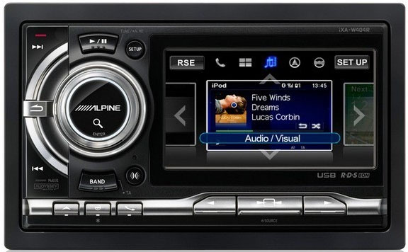 Alpine IXA-W407BT Double Din CD/MP3/WMA Receiver