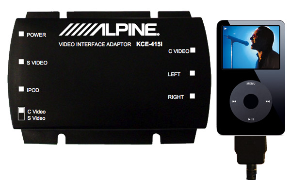 Alpine KCA-415i iPod Video Adapter