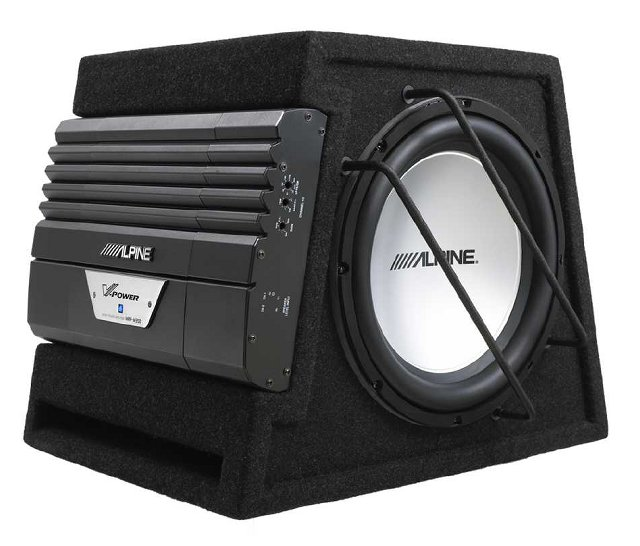Alpine SWD-3000 350W Active Bass Enclosure