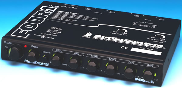 AudioControl Four.1i In-Dash Car Audio Equalizer with Aux
