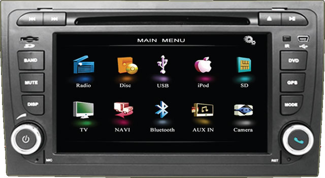 Beat N1-A4 Double Din Monitor for Audi A4 Fitment