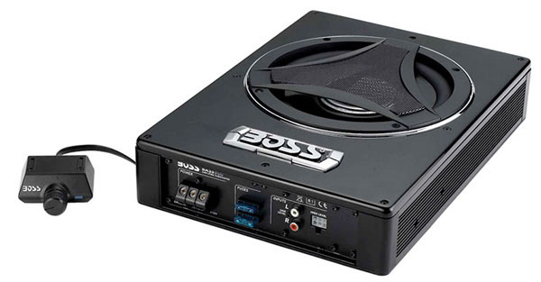 Boss Audio BASS900 900W Shallow Mount Active Subwoofer