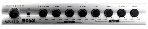 Boss Audio Systems AVA-1210 7 Band Equalizer with Sub Output