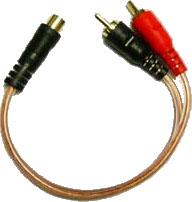 Boss Audio Systems CY2M 2 Male - 1 Female Y lead