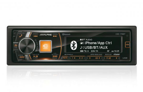 Alpine CDE-178BT CD/MP3/USB Receiver with Bluetooth & iPod