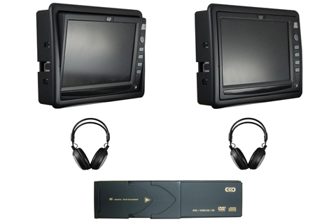 Dual Tilt Screen Monitor With 6 Disc DVD Changer