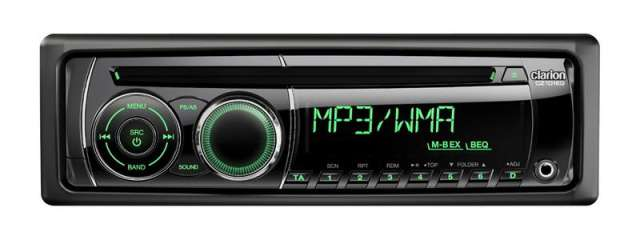 Clarion CZ101EG CD/MP3/WMA Receiver Green Illumination