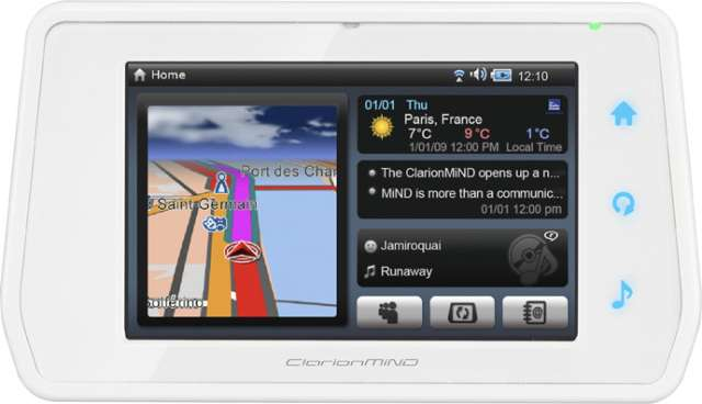 Clarion NR1EW Portable Navigation & Media Station In White