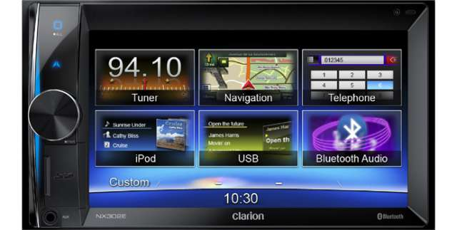 Clarion NX302E Double Din Mechless Unit With Navigation