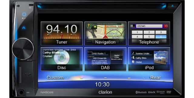 Clarion NX502E Double Din DVD/CD/MP3 Receiver With Navigation