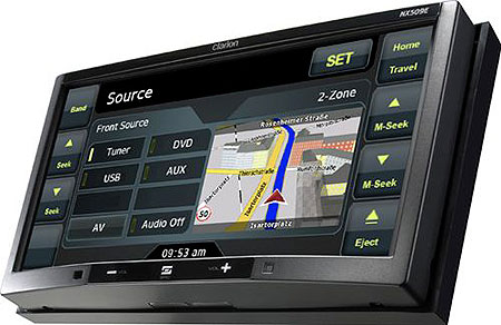 Clarion NX700E Double Din Touch Screen with Built-In Navigation