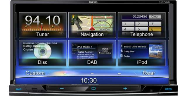 Clarion NX702E Double Din DVD/CD/MP3 Receiver With Navigation