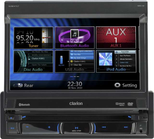 Clarion NZ501E DVD Multimedia Station with built in Navigation