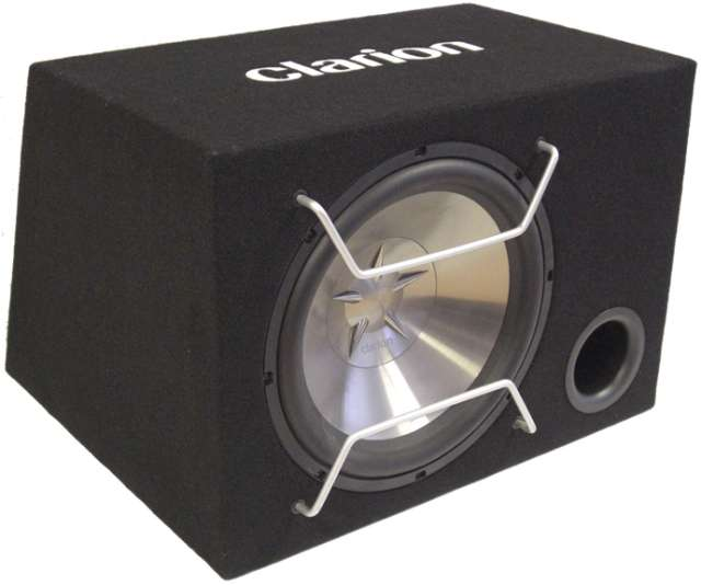 Clarion SW2513B Subwoofer with Bass Reflex Enclosure