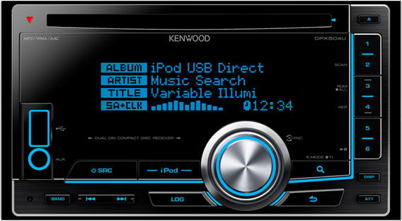 Kenwood DPX-504U Double DIN CD/MP3/USB player