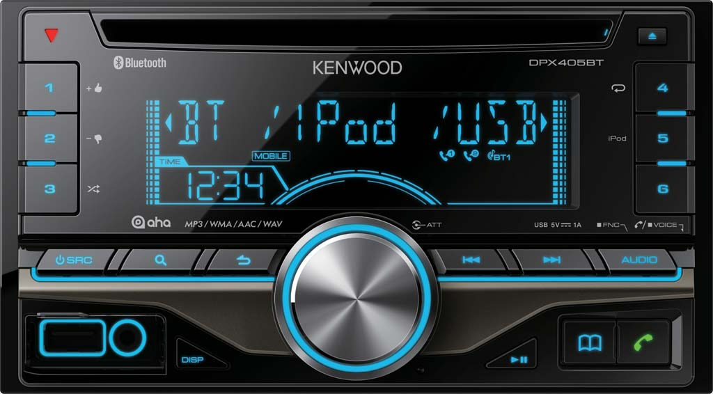Kenwood DPX-405BT Double Din Receiver with Bluetooth & USB Input