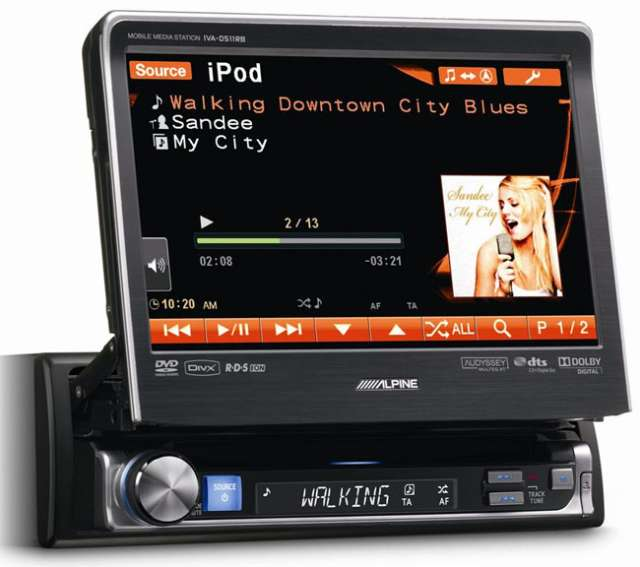"Alpine IVA-D511RB 7"" Touch Screen CD/MP3/DVD/USB Receiver"