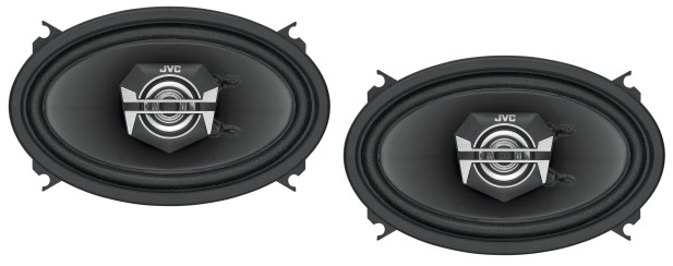 JVC CS-V4627 2 Way Custom Fit Coaxial Speaker System
