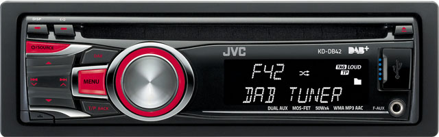 JVC KD-DB42 CD/MP3/USB/DAB Receiver With Auxillary Input