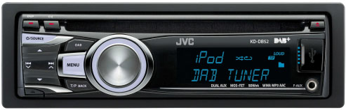 JVC KD-DB52 CD/MP3/USB/DAB/iPod Receiver With Auxillay Input