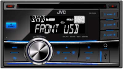 JVC KW-DB60AT Double DIN DAB/USB/CD Receiver