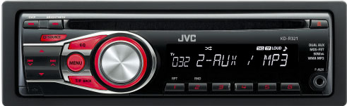 JVC KD-R321 MP3/WMA Receiver with Front AUX Input