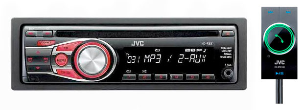 JVC KD-R331 CD/MP3/AUX Receiver With Bluetooth Connectivity