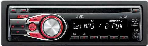 JVC KD-R331 CD/MP3 Receiver With Aux Input Adapter