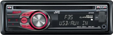 JVC KD-R35 CD/MP3/USB Receuver With Auxillary Input