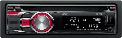 JVC KD-R421 CD/MP3/WMA Receiver with USB & Auxillary Input