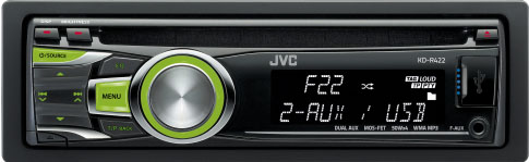 JVC KD-R422 CD/MP3/WMA Receiver With USB & Auxillary Input
